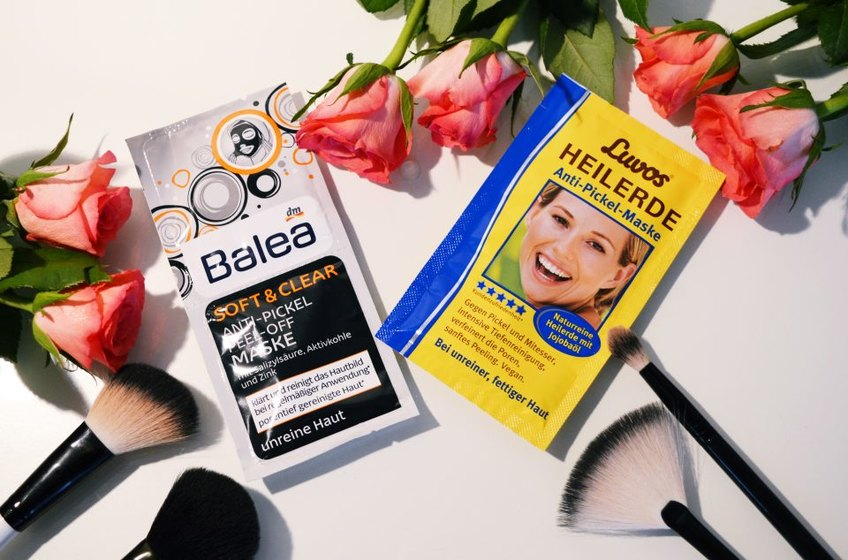 Balea Soft & Clear Anti Pickel Peel Off Maske mit Aktivkohle, Luvos Heilerde Maske dm